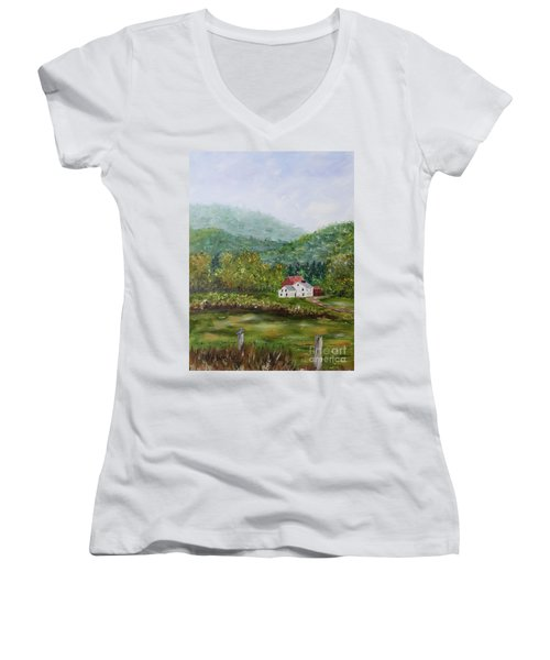 Farm In The Valley Women's V-Neck (Athletic Fit)