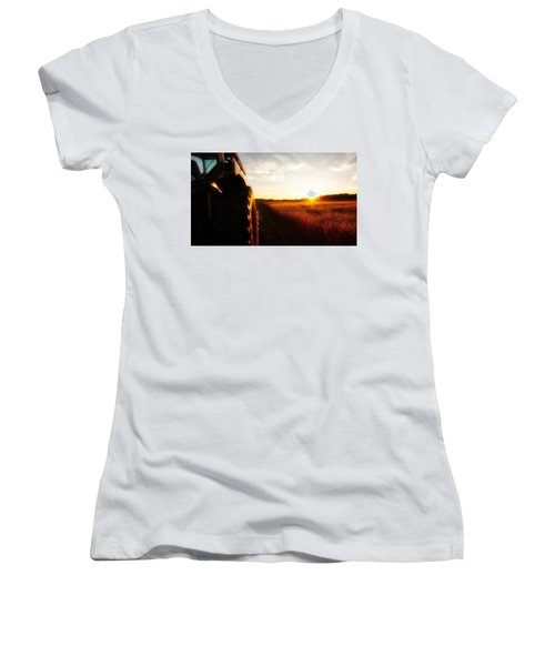 Farming Until Sunset Women's V-Neck