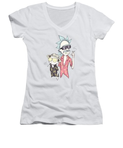 Fear And Loathing In Schwift Vegas Women's V-Neck (Athletic Fit)