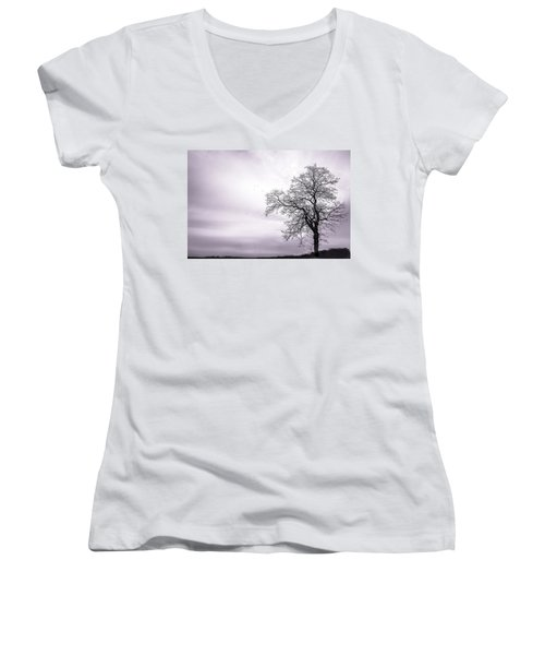 February Morning Women's V-Neck T-Shirt