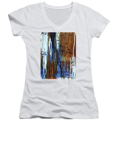 February Rain Women's V-Neck T-Shirt (Junior Cut)