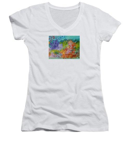 Feeding Time On The Reef #3 Women's V-Neck T-Shirt