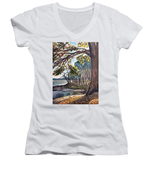Feel The Breeze Women's V-Neck T-Shirt