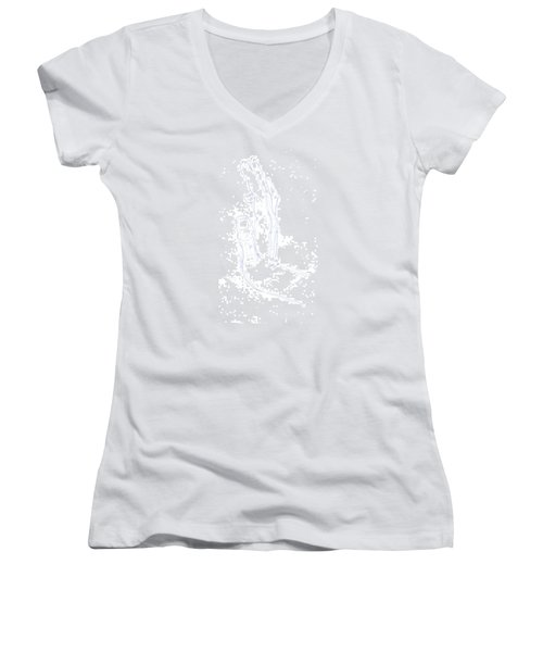 Feel The Force - Illustration Of A Hand Women's V-Neck