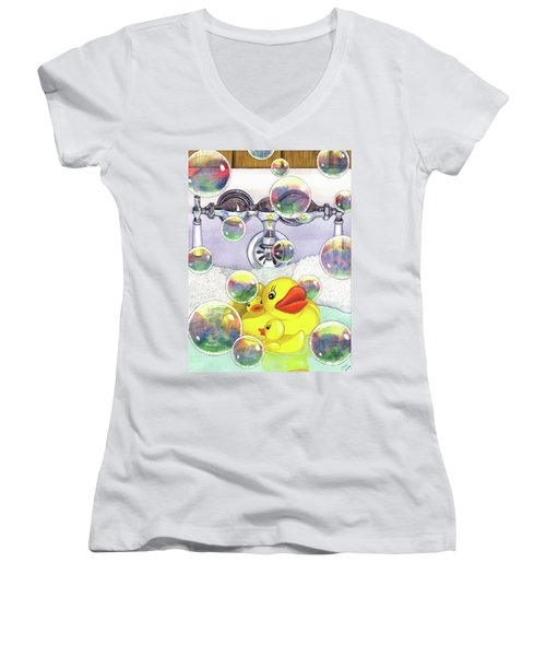 Feelin Ducky Women's V-Neck T-Shirt
