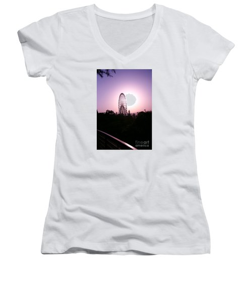 Ferris Wheel  Women's V-Neck T-Shirt