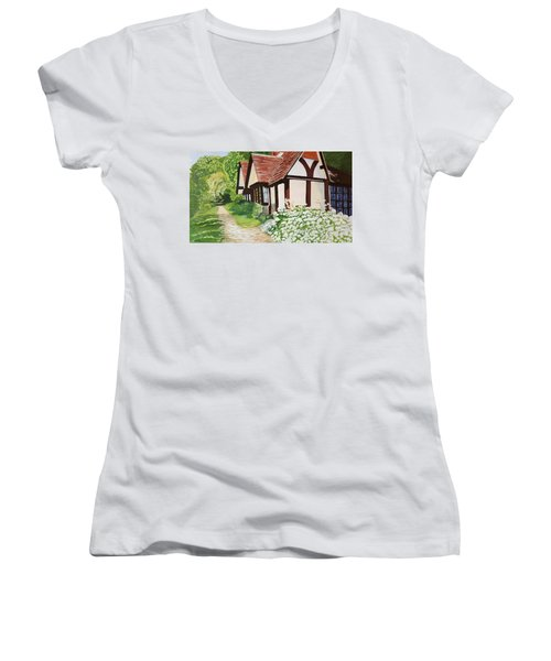 Ferry Cottage Women's V-Neck (Athletic Fit)