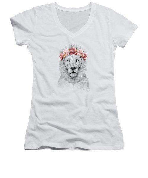 Festival Lion Women's V-Neck (Athletic Fit)