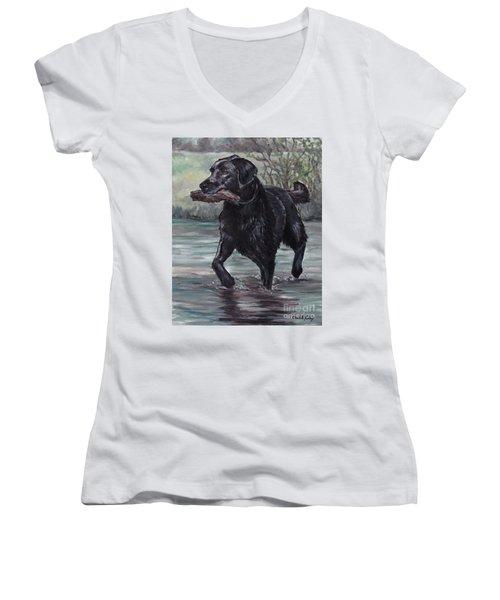 Fetch Women's V-Neck T-Shirt (Junior Cut)