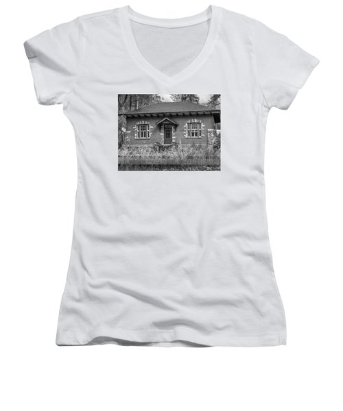 Field Telegraph Station Women's V-Neck (Athletic Fit)