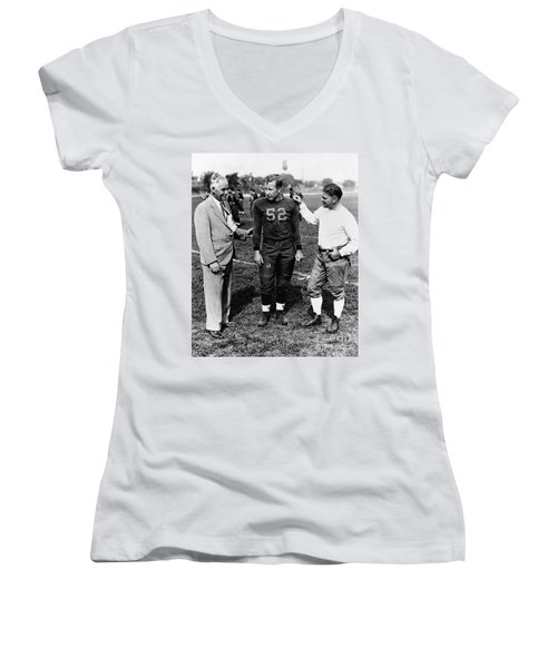 Fielding Yost (1871-1946) Women's V-Neck T-Shirt (Junior Cut) by Granger