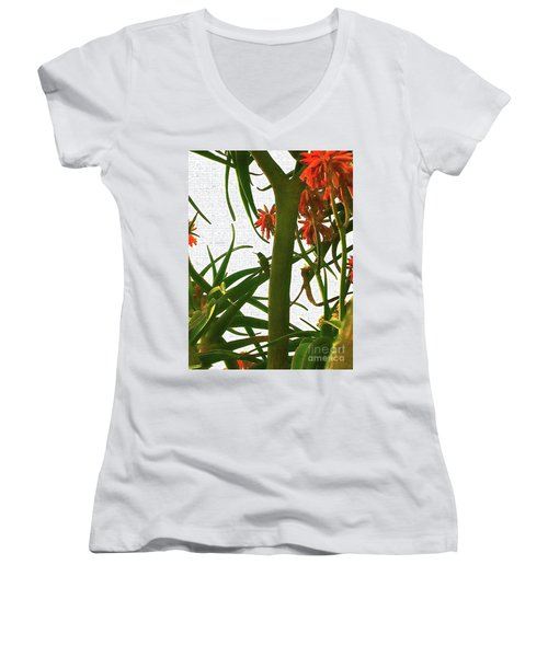 Finding Fortune Women's V-Neck T-Shirt (Junior Cut) by Gem S Visionary