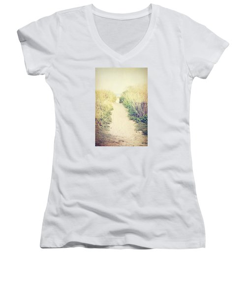Women's V-Neck T-Shirt (Junior Cut) featuring the photograph Finding Your Way by Trish Mistric