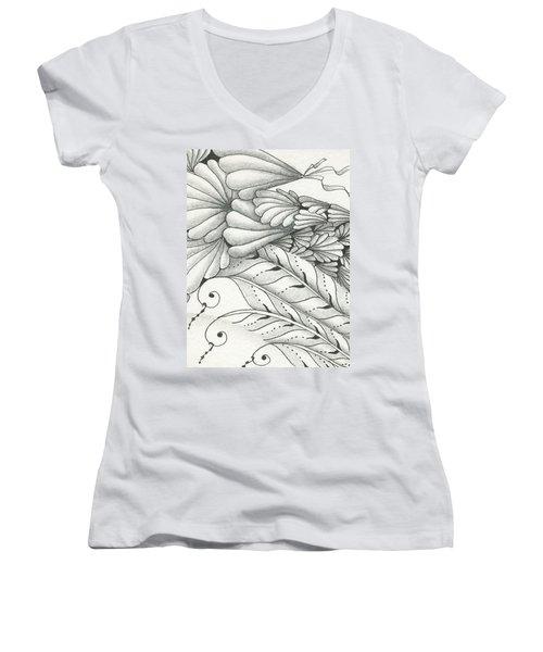 Finery Women's V-Neck T-Shirt (Junior Cut) by Jan Steinle