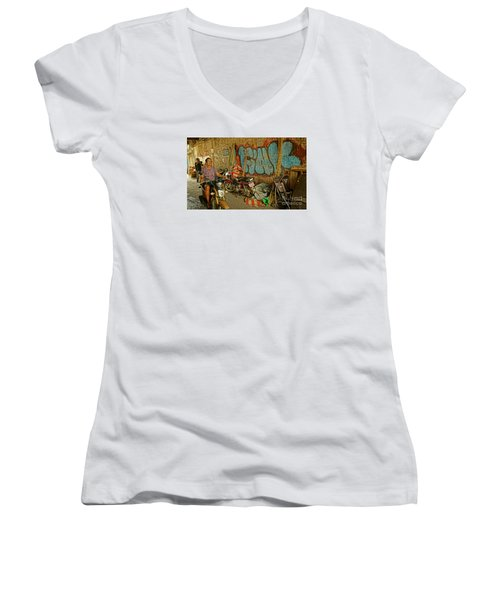 Fink Color Graffiti Women's V-Neck T-Shirt