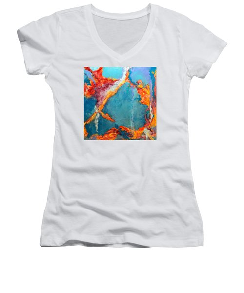 Fire And Ice Women's V-Neck (Athletic Fit)