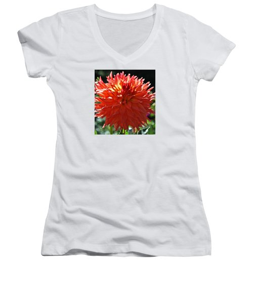 Fire It Up Dahlia  Women's V-Neck T-Shirt