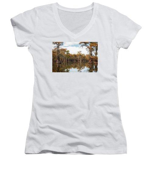Fire Moss  Women's V-Neck T-Shirt