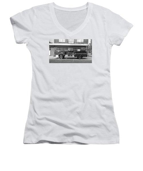 Fire Truck Women's V-Neck T-Shirt