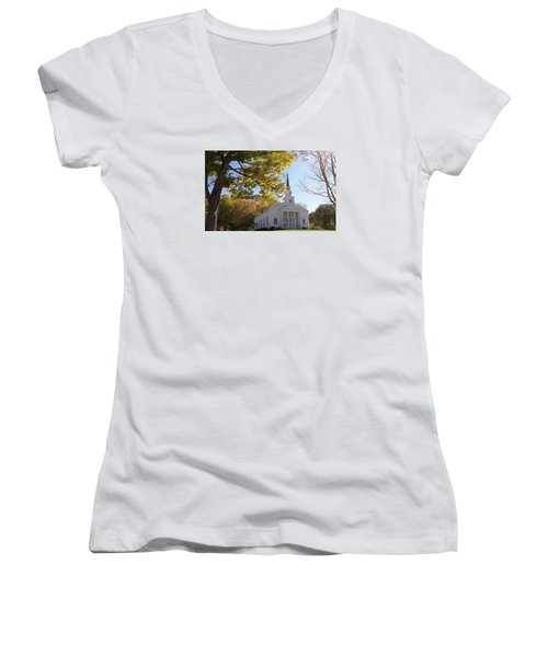 First Congregational Canterbury Women's V-Neck T-Shirt