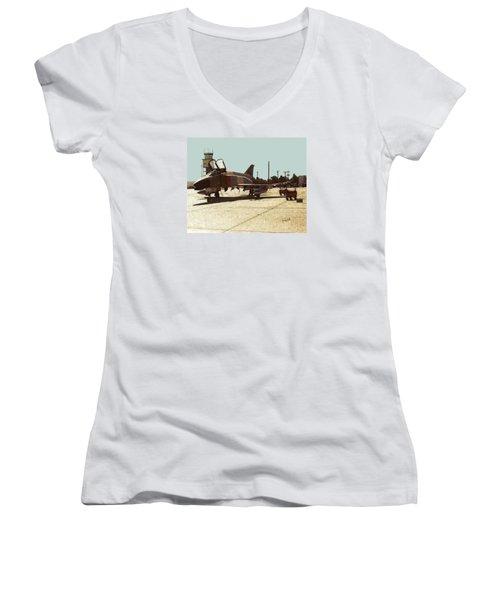 First Jet Women's V-Neck T-Shirt