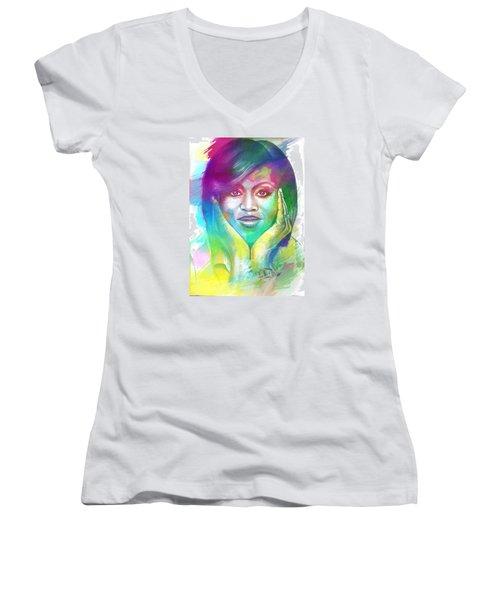 First Lady Obama Women's V-Neck T-Shirt
