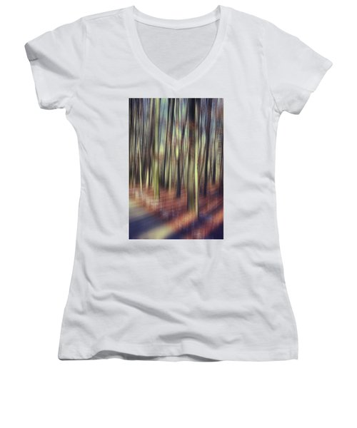 First Light Of Spring Women's V-Neck (Athletic Fit)