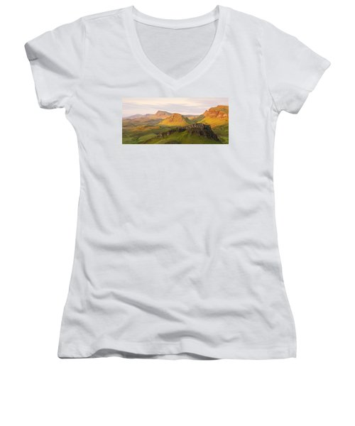 First Light Trotternish Panorama Women's V-Neck (Athletic Fit)