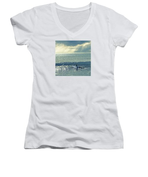 First Of The Day Women's V-Neck T-Shirt