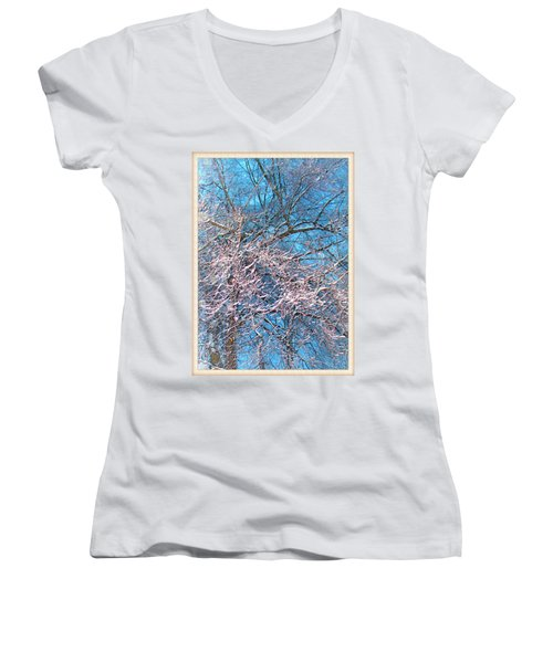 First Snow At Dawn Women's V-Neck