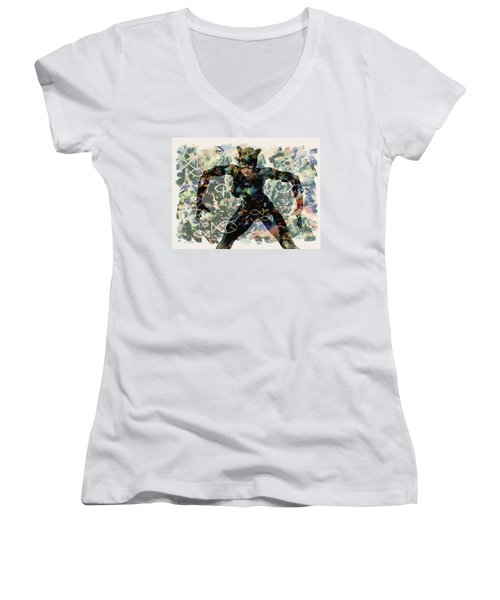 Fish And Kitty Women's V-Neck (Athletic Fit)