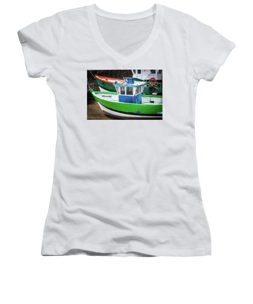 Fishing Boats Women's V-Neck