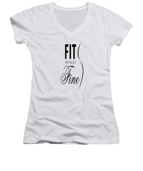 Fit And Fine Women's V-Neck (Athletic Fit)