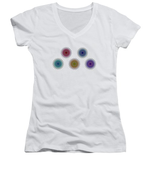 Five Flowers Women's V-Neck (Athletic Fit)