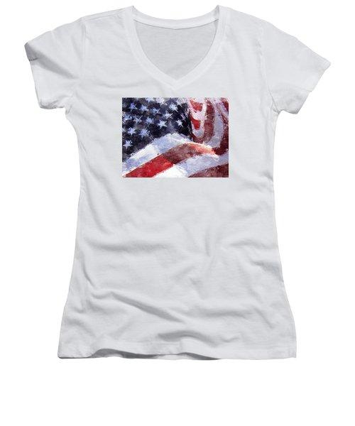 Flag Women's V-Neck