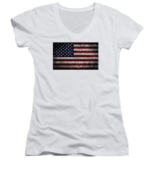 Flag Of The United States Women's V-Neck T-Shirt