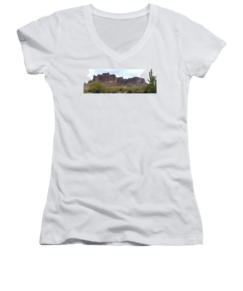 Flatiron Of The Superstition Mountains Women's V-Neck