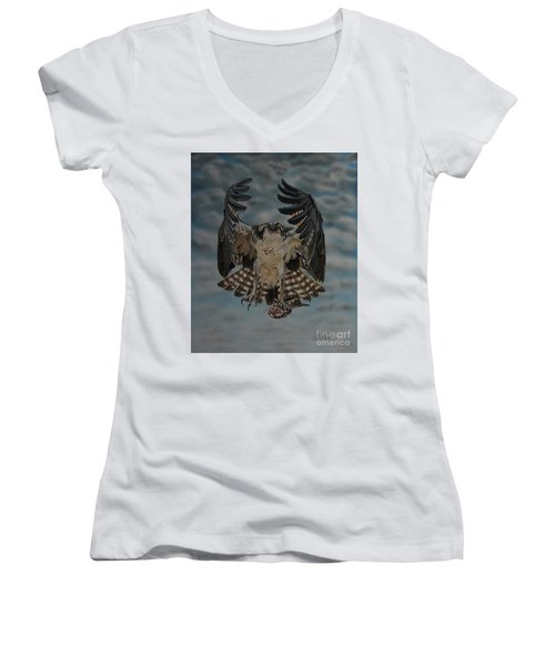 Fleck The Osprey  Women's V-Neck T-Shirt