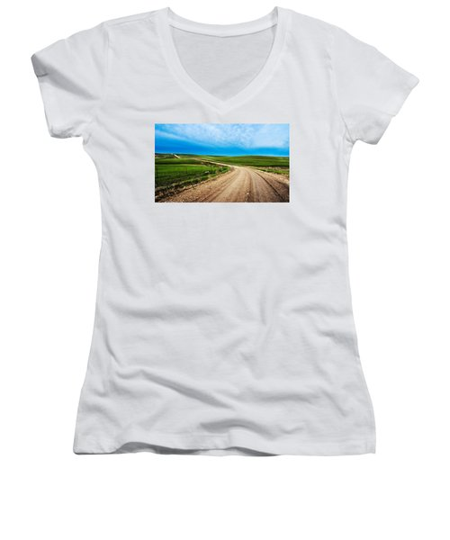 Flint Hills Spring Gravel Women's V-Neck T-Shirt