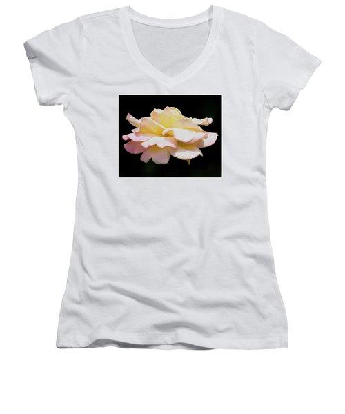 Floating Rose 3894 Women's V-Neck T-Shirt