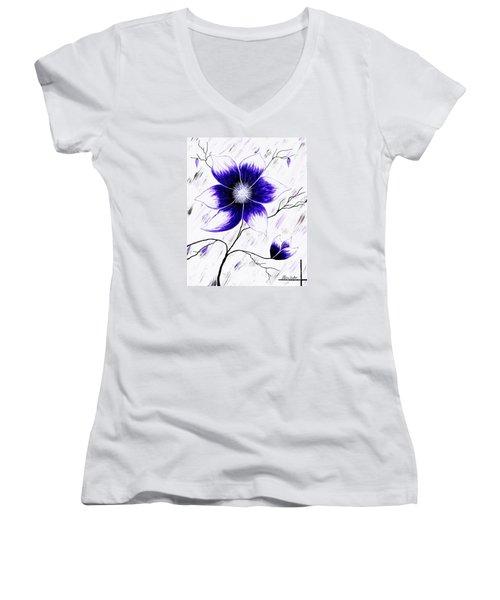 Floral Awakening Women's V-Neck
