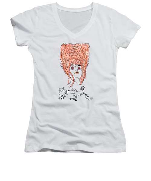 Florence And The Machine Women's V-Neck (Athletic Fit)