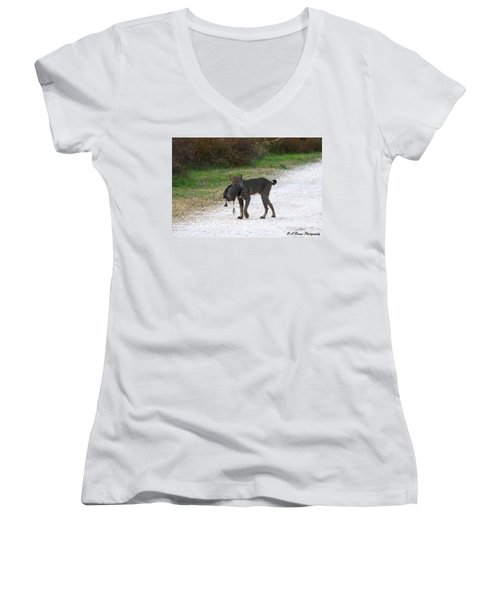 Florida Bobcat Catches An Evening Snack Women's V-Neck