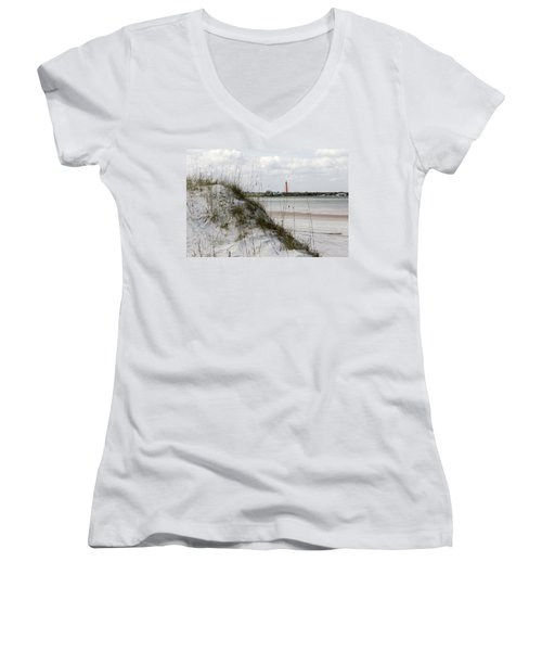 Florida Lighthouse Women's V-Neck T-Shirt