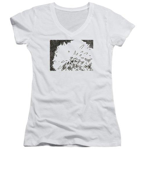 Flower 1 2015 Aceo Women's V-Neck T-Shirt (Junior Cut) by Joseph A Langley