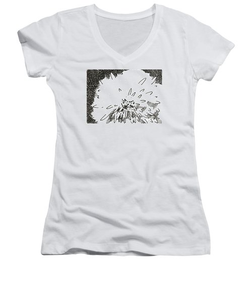 Flower 1 2015 Aceo Women's V-Neck (Athletic Fit)