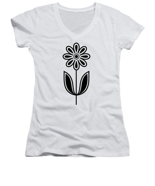 Flower 1 Transparent Women's V-Neck (Athletic Fit)