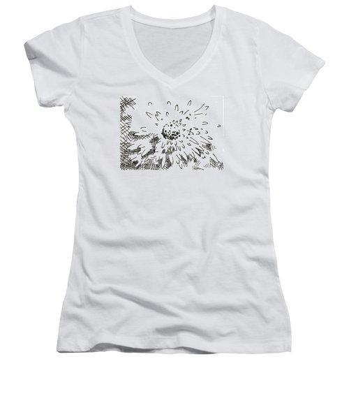 Flower 2 2015 - Aceo Women's V-Neck T-Shirt (Junior Cut) by Joseph A Langley