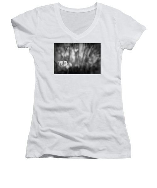 Flower #7421 Women's V-Neck T-Shirt (Junior Cut) by Andrey Godyaykin