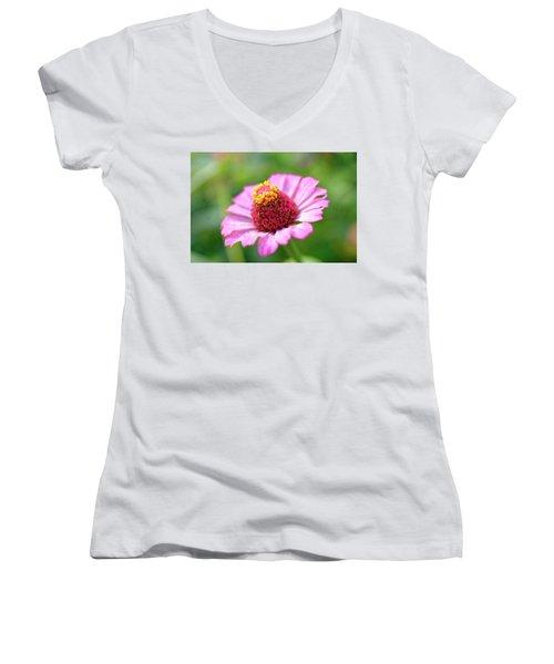 Flower Close-up Women's V-Neck